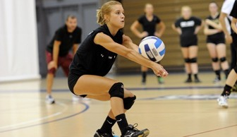 Women's Volleyball: Kelly Spychala 2013 alumni game
