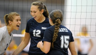 Women's Volleyball: Kelly Spychala and Madison Rodriguez 2013