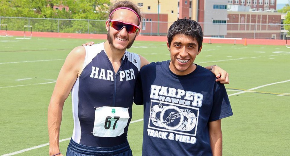 Men's Track and Field: John Majerus and Jordy Arriaga 2015