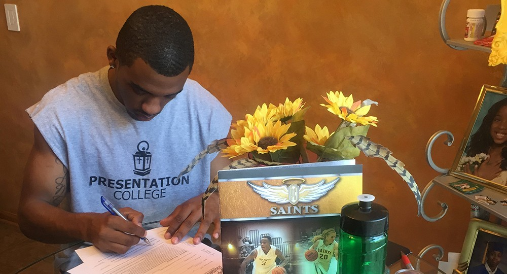 Men's Basketball: Marcus Gatlin Presentation College Signing 2016